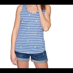 Joules Stripe and Pear Tank
